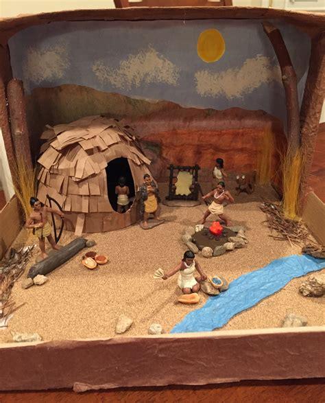 printable diorama instructions california desert indians shoebox diorama materials