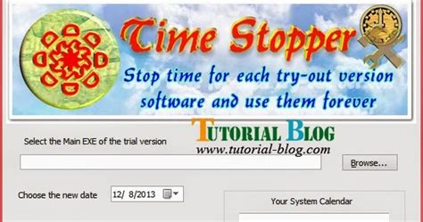 blogger tutorial blogspot com get time stopper how to stop time trial software
