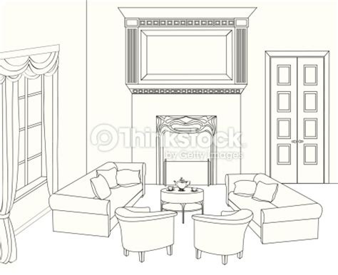 interior design drawing set drawingroom house interior set vector thinkstock