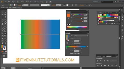 adobe illustrator cs6 use adobe illustrator cs6 gradient tool and gradient palette
