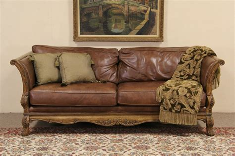 country leather sofa leather sofa louis xv painted sofa
