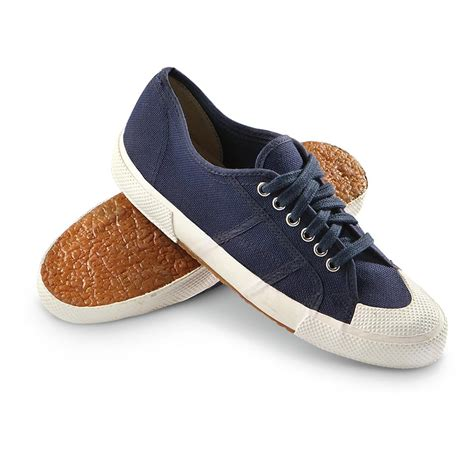deck sneakers new italian navy canvas deck shoes navy blue 223058