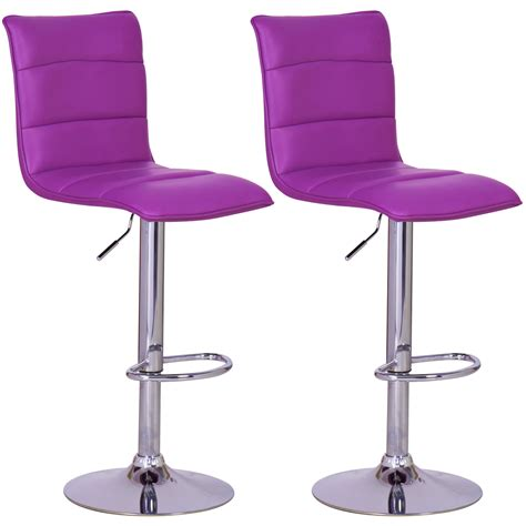 purple swivel chair 2 x bar stools faux leather swivel breakfast kitchen stool