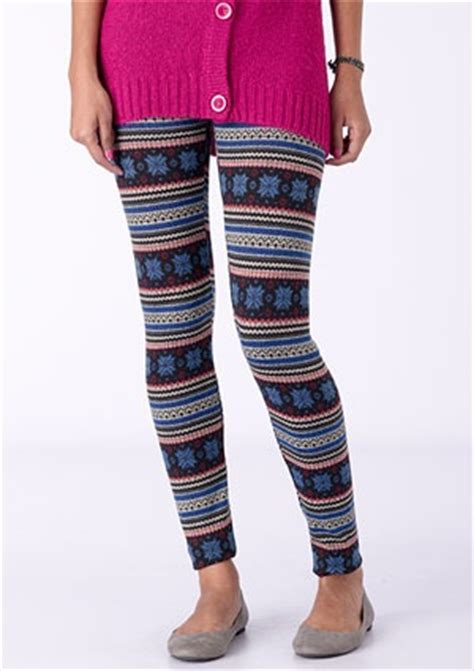 tween pattern leggings delia s does fair isle perfect for the tween sweater and