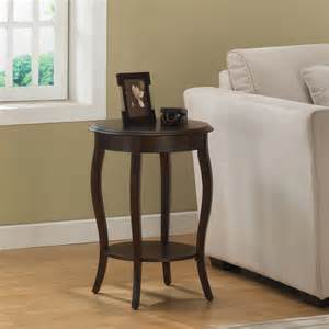 sofa accent tables round accent table modern side sofa walnut display storage living room furniture ebay