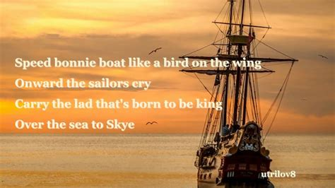 boat song the corries the skye boat song with lyrics youtube