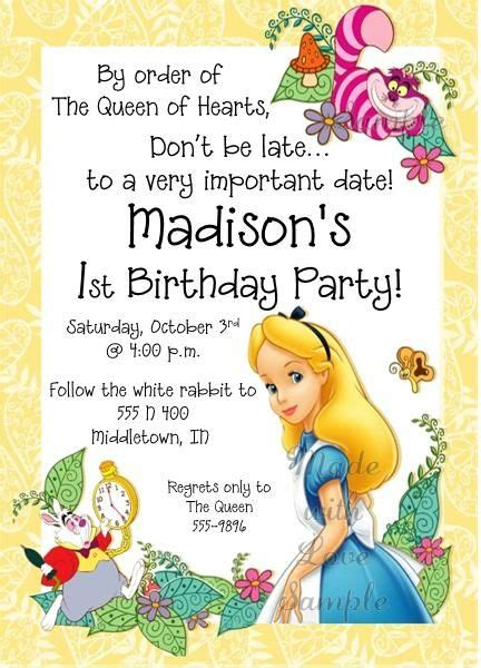 25 best ideas about alice in wonderland invitations on