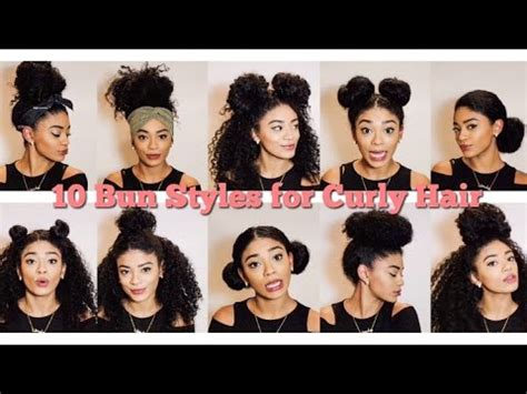Natural Hair   10 Bun Styles for Curly Hair   jasmeannnn