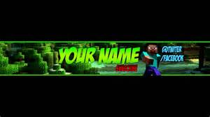 free minecraft youtube banner channel art template 2 psd