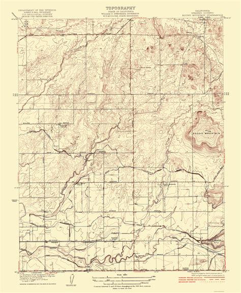 california quadrangle map historical topographical maps mountain california
