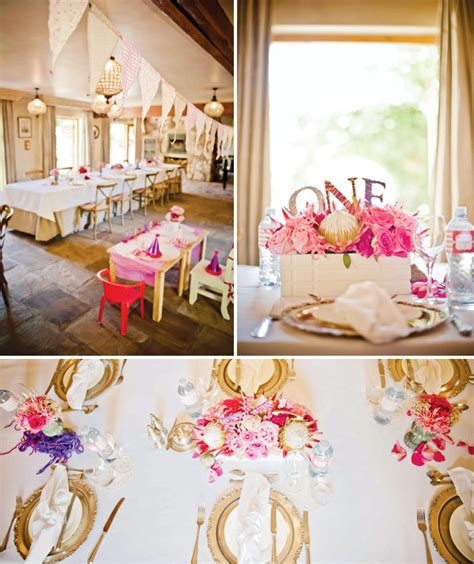 birthday themes elegant elegant pink playful first birthday ideas hostess