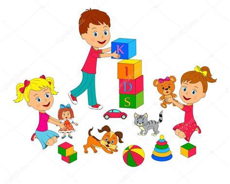 dibujos de niños jugando y compartiendo ni 241 o y ni 241 as jugando vector de stock 169 iris828 126675906