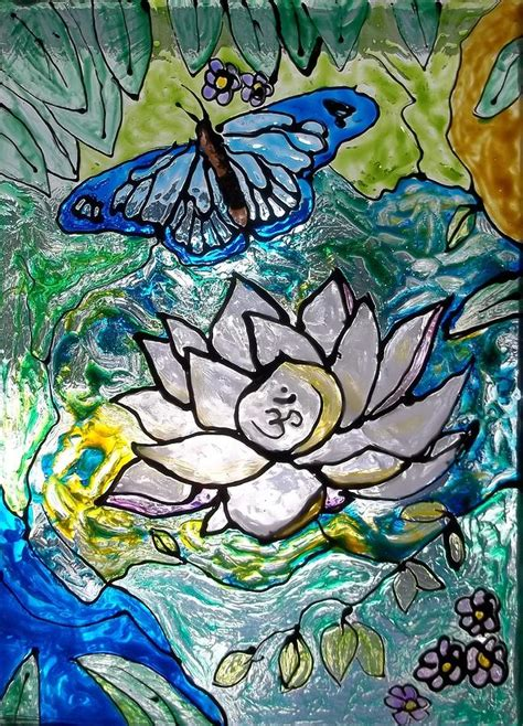 lotus and butterfly lotus flower and butterfly painting by chris oldacre