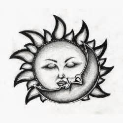 art and tattoo sun and moon
