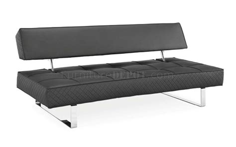 black sofa legs black bonded leather modern sofa bed w chrome legs
