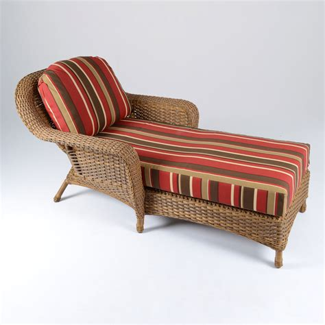 wicker chaise lounge chair shop tortuga outdoor lexington mojave wicker chaise lounge