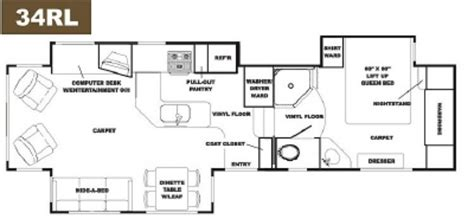 alpenlite 5th wheel floor plans 2007 alpenlite limited 34rl cing world of avondale