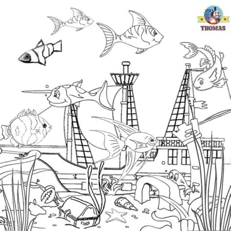 the aquarium colouring books a special day on sodor aquarium set train thomas the tank engine friends free online games and