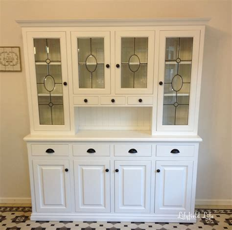 Painted Kitchen Hutch lilyfield white painted kitchen hutch