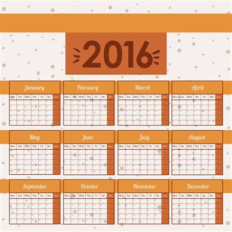 design wall calendar 2016 simple wall calendar 2016 design vectors set 06 vector