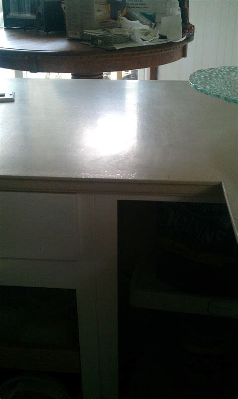 Daich Countertop Refinishing Kit by 20 Sanded And Steel Wool Buffed Finish After Using Daich Countertop Refinishing Kit