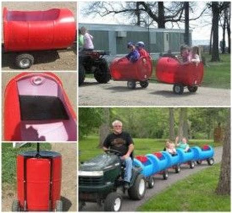 creative ideas diy plastic barrel outdoor train
