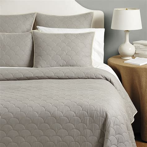 scalloped bedding cora scalloped quilted bedding ballard designs