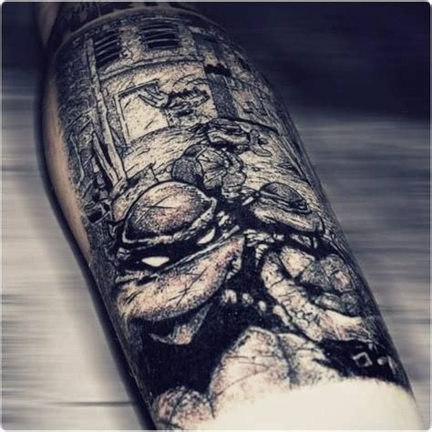 tmnt tattoo tmnt mutant turtles black and white