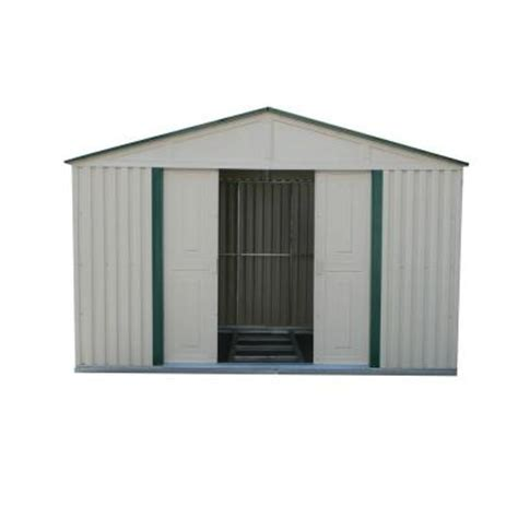 Metal Sheds At Home Depot by Duramax Building Products 10 Ft X 8 Ft Green Trim Metal