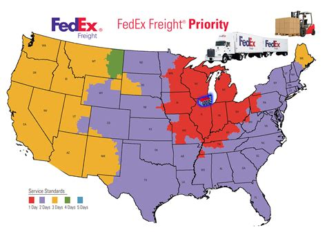 fedex time in transit map shipping transit times