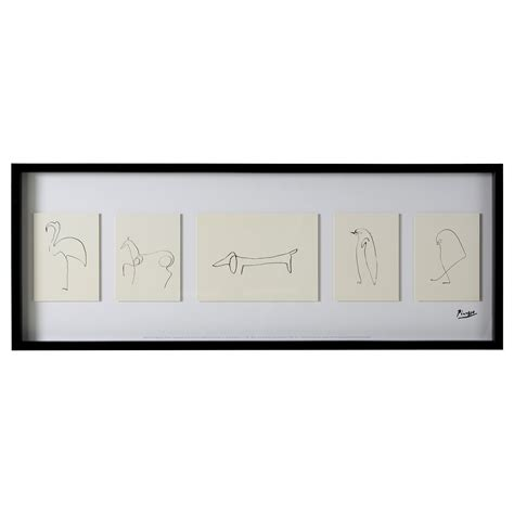 picasso paintings ikea olunda picture sketches 103x39 cm ikea