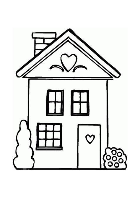 printable house image kleurplaat huis 7680 kleurplaten