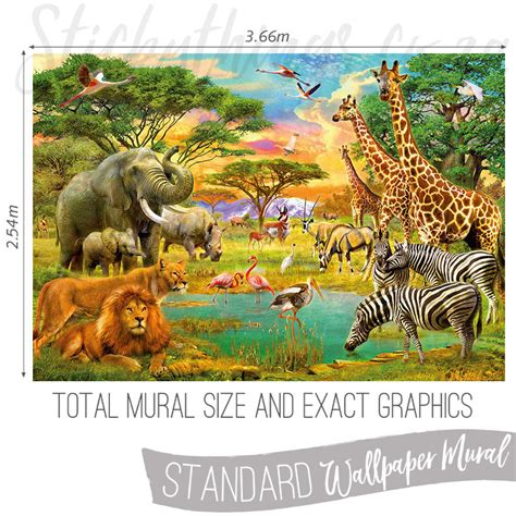 safari wall mural safari animals wall mural animals wallpaper