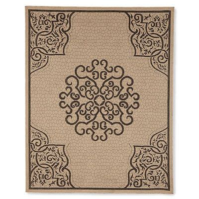 Big Lots Outdoor Rugs 8 X 10 Vitreous Beige Black Patio Rug At Big Lots