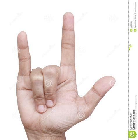 langage de signe de main je t aime photo stock image du