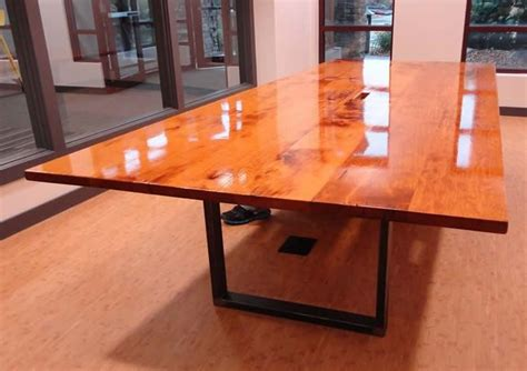 Metal Conference Table Legs Large Custom Built Conference Table Reclaimed Barn Wood Top With U Leg Metal Legs Created By