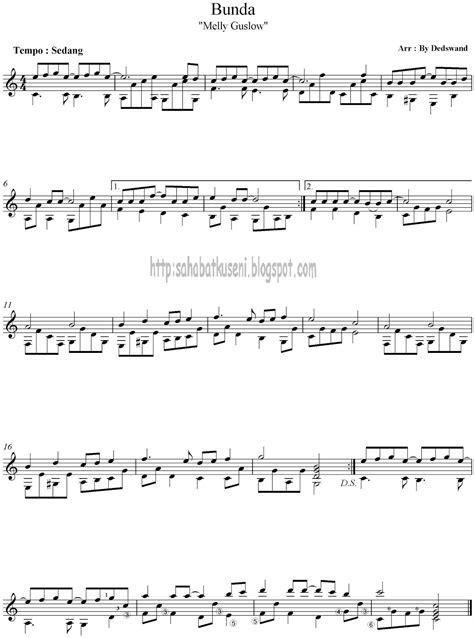 tutorial gitar klasik pemula partitur solo gitar untuk pemula bunda sahabatku seni