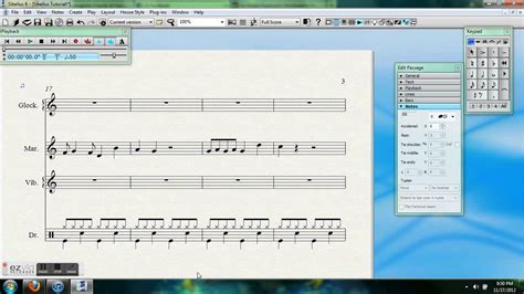 sibelius tutorial drum set notation basic sibelius 6 percussion notation youtube