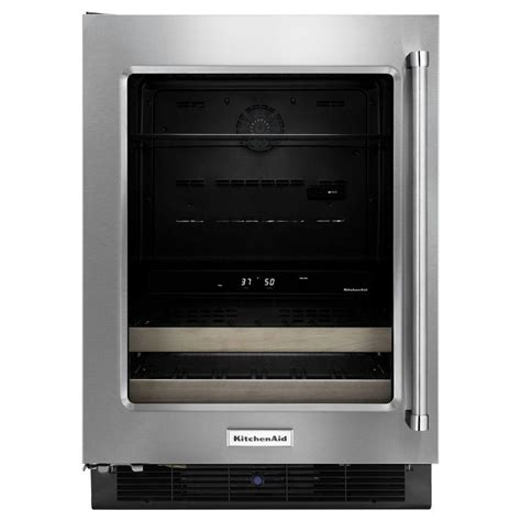 kitchenaid 24 in w 14 bottle wine cooler and beverage