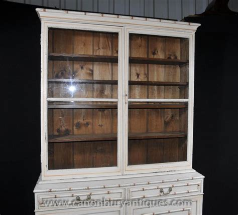 Glass Fronted Dresser by Painted Kitchen Dresser Bookcase Glass Fronted Cabinet