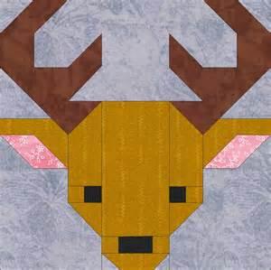 deer 8 quilt block pattern pdf instant by
