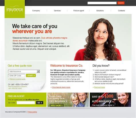 Insurance Website Template 21470 Insurance Website Templates