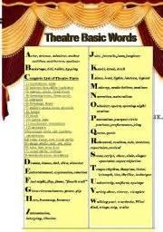 worksheet theatre basic words