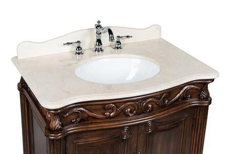 Adelina 32 Inch Antique Bathroom Vanity - adelina 32 quot antique bathroom vanity brown finish