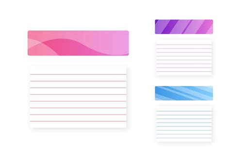 Vertical Index Card Template by Index Card Vector Free Vector Stock