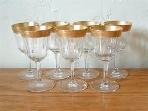 Gold Rimmed Wine Glasses Vintage Gold Rim Cordial Glasses Crystal Set Of 7 Minton