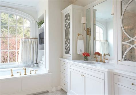 bathroom cafe curtains tub under window design ideas