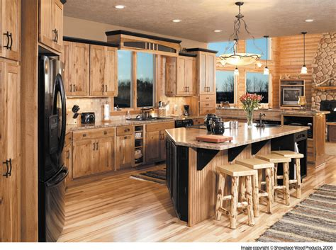Rustic hickory cabinets kitchen traditional with amber cabinet charcoal cabinets1
