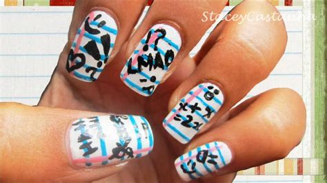 easy nail art movie back to school nail design tutorial simple easy