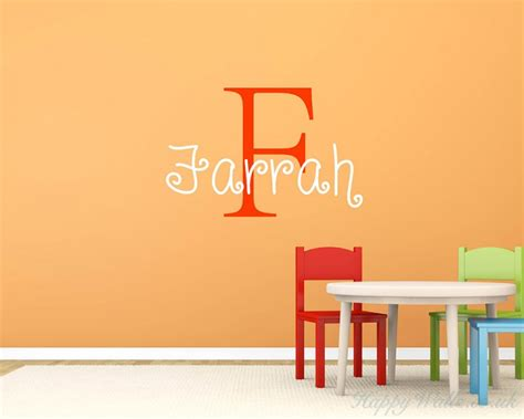 customised wall stickers customised name wall decal for children